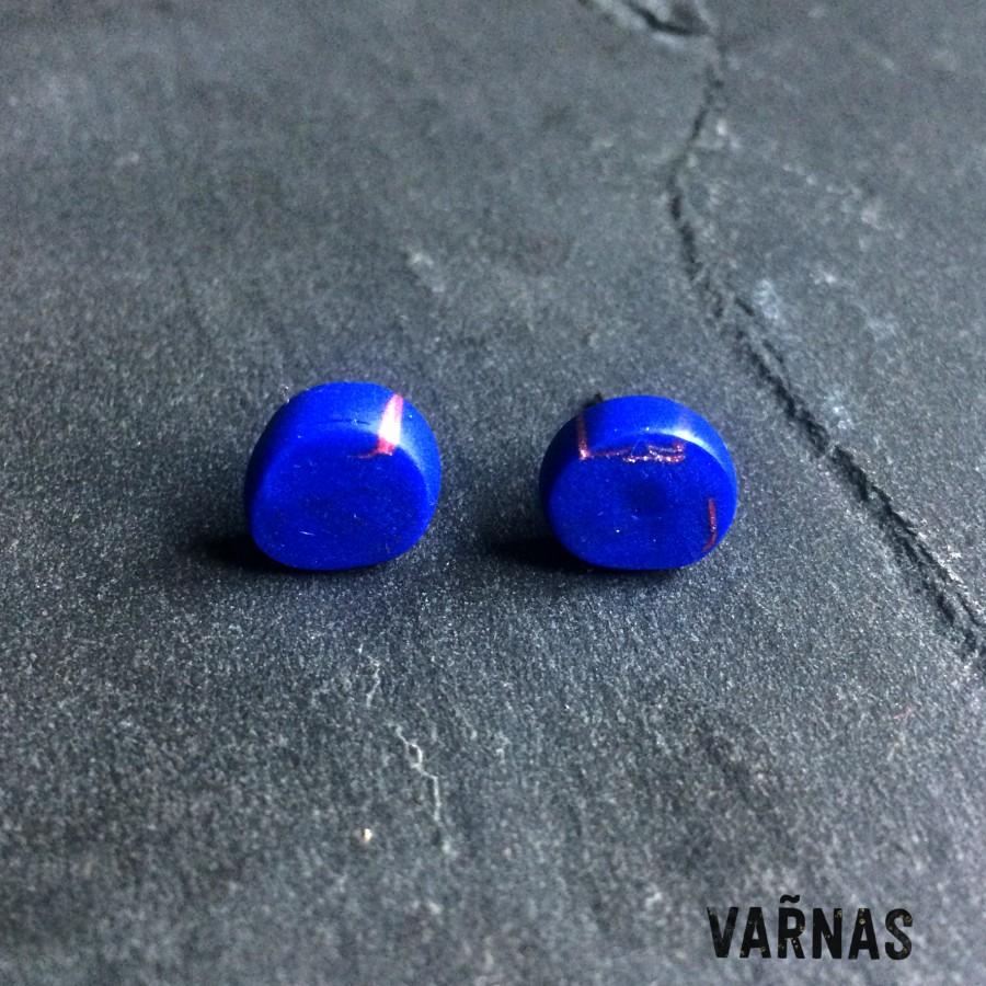Auskarai Mėlyna su raudona paslaptimi