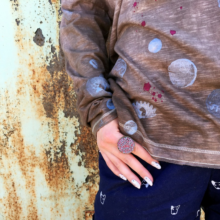 Ilgarankoviai marškinėliai KAKAVA SU PUTA (L dydis)