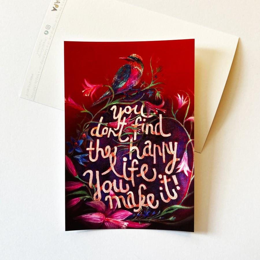 Postcard HAPPY LIFE