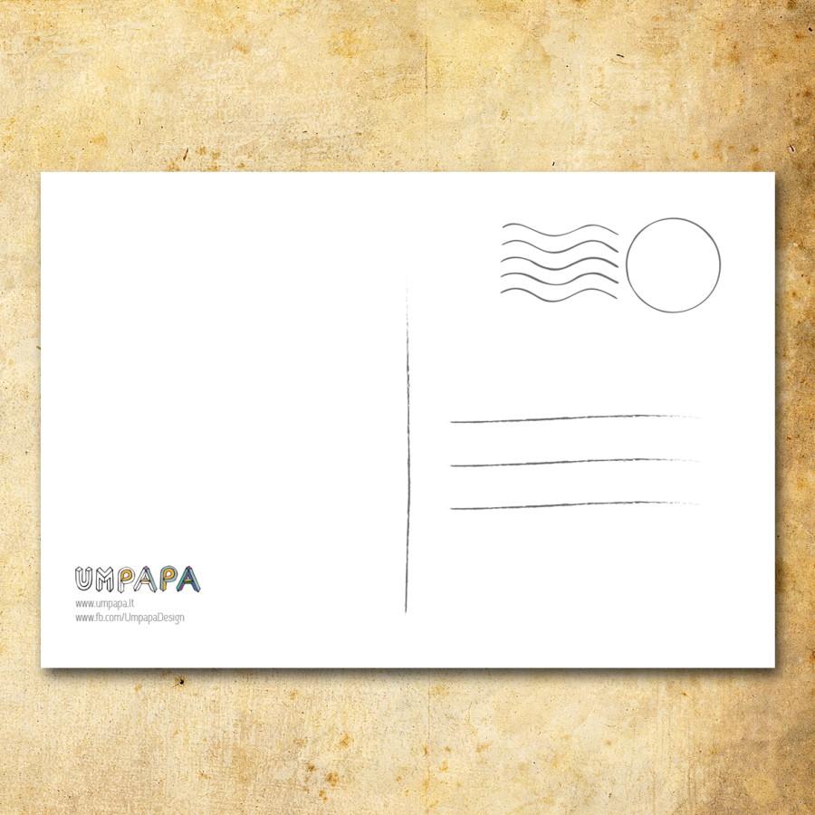 Postcard: MONSTERA (watercolor)