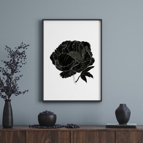 Poster PEONIE BLACK