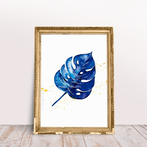 Plakatas BLUE MONSTERA