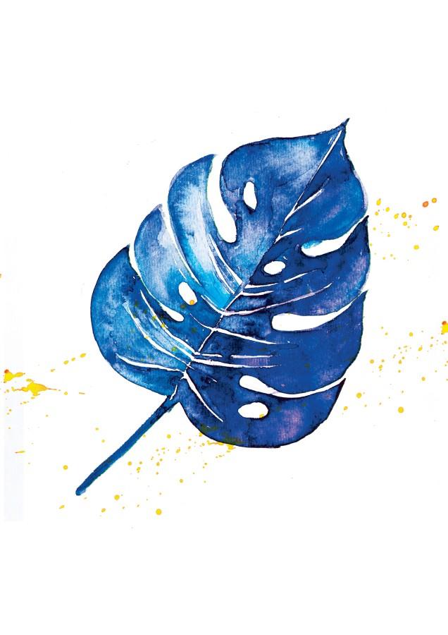 Poster BLUE MONSTERA