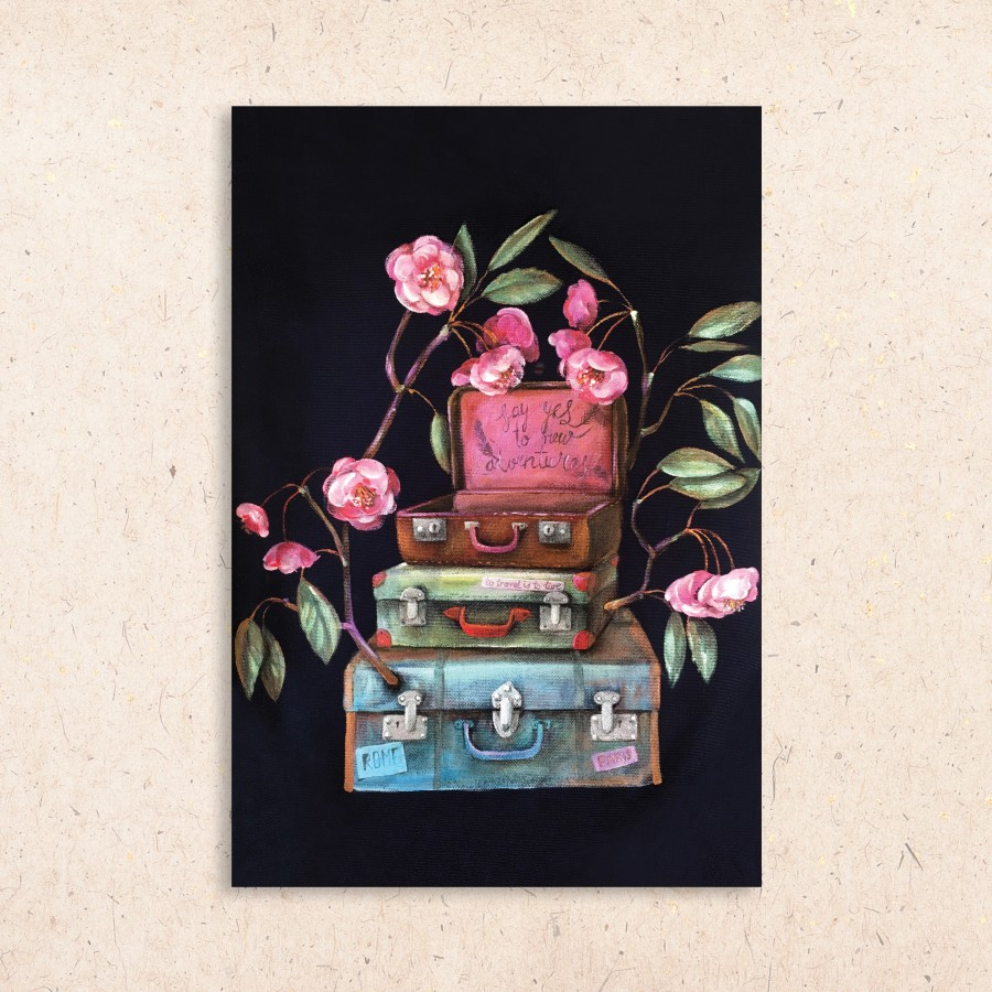 Postcard: Suitcases