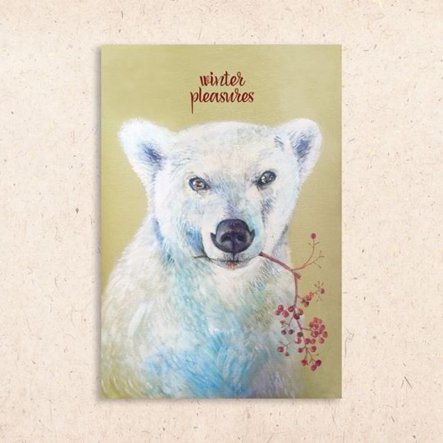 Postcard: Winter bear