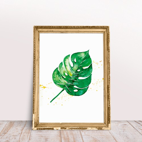 Plakatas GREEN MONSTERA