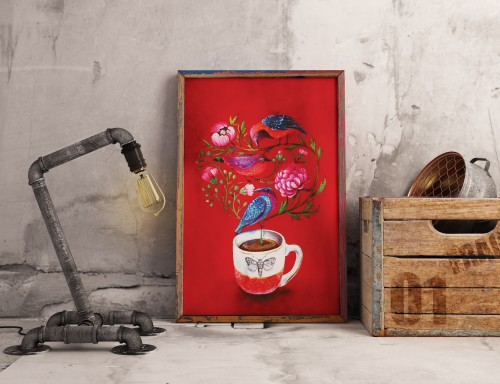 Poster BIRD TEA