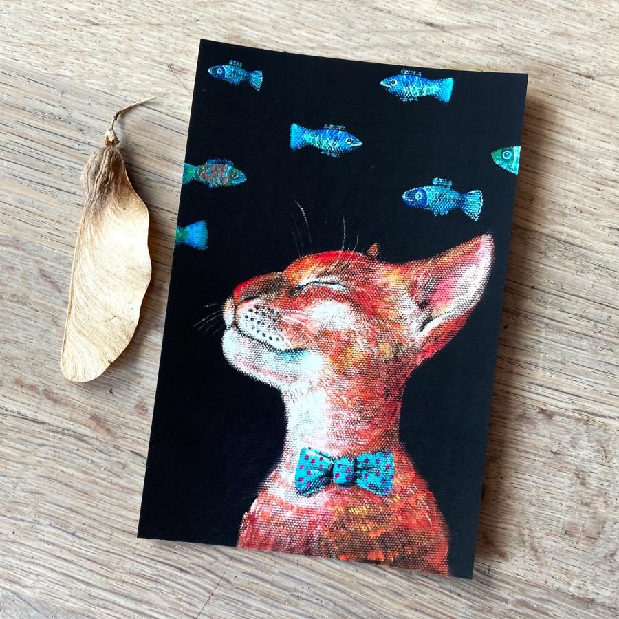 Postcard CAT and FISH