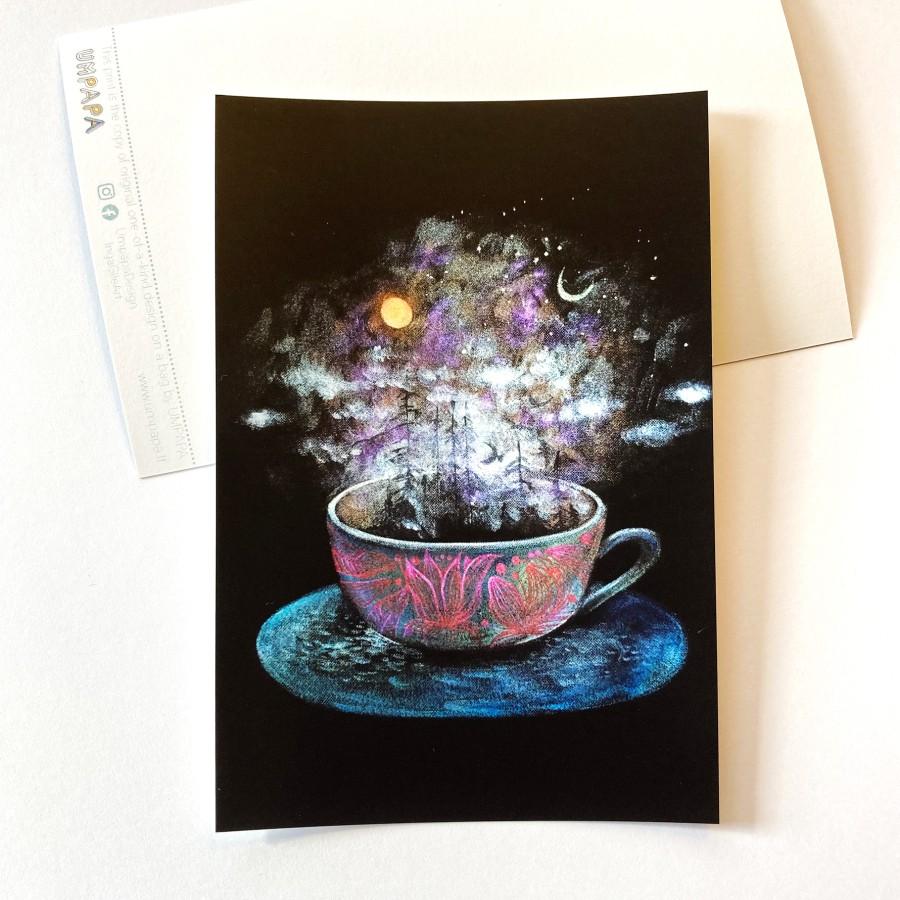 Postcard  TEA AND THE UNIVERSE