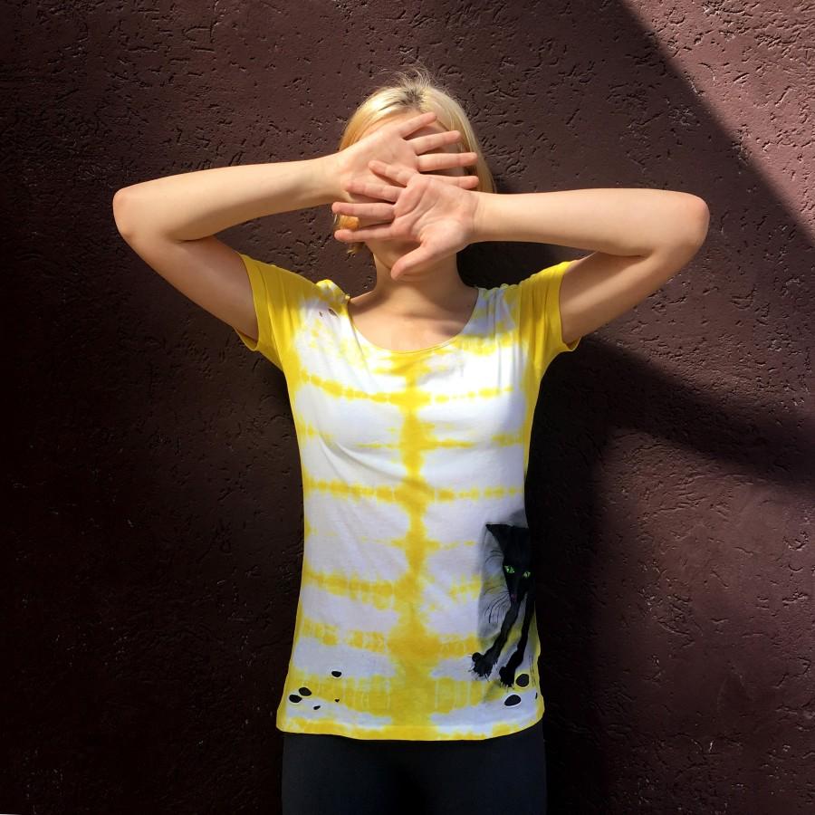 Marškinėliai JUODA KATĖ (S dydis)